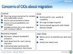 concerns of cios about migration
