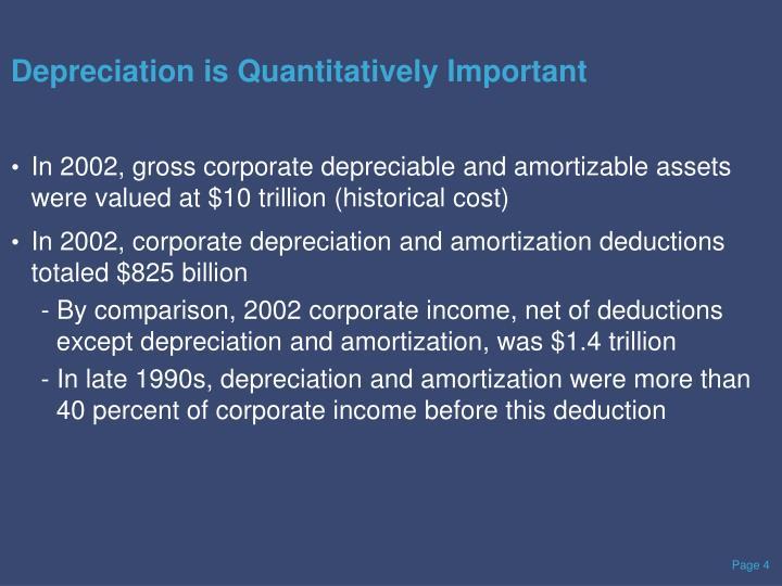 Depreciation is Quantitatively Important