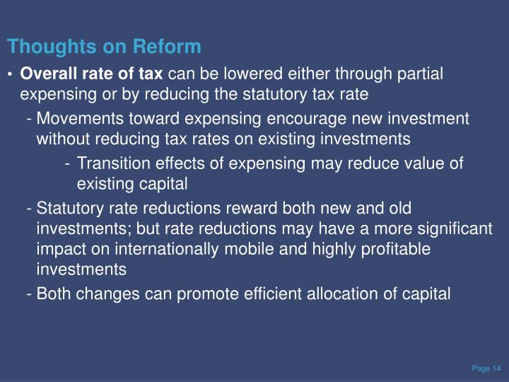 Thoughts on Reform