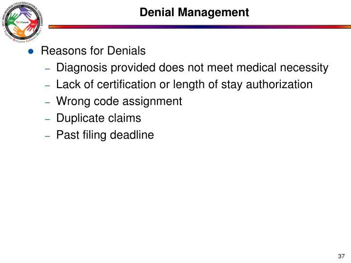 Denial Management
