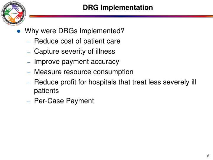 DRG Implementation