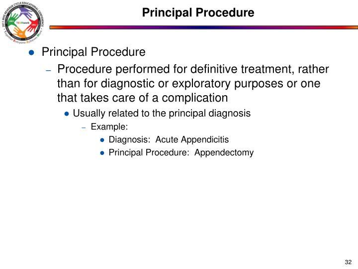Principal Procedure