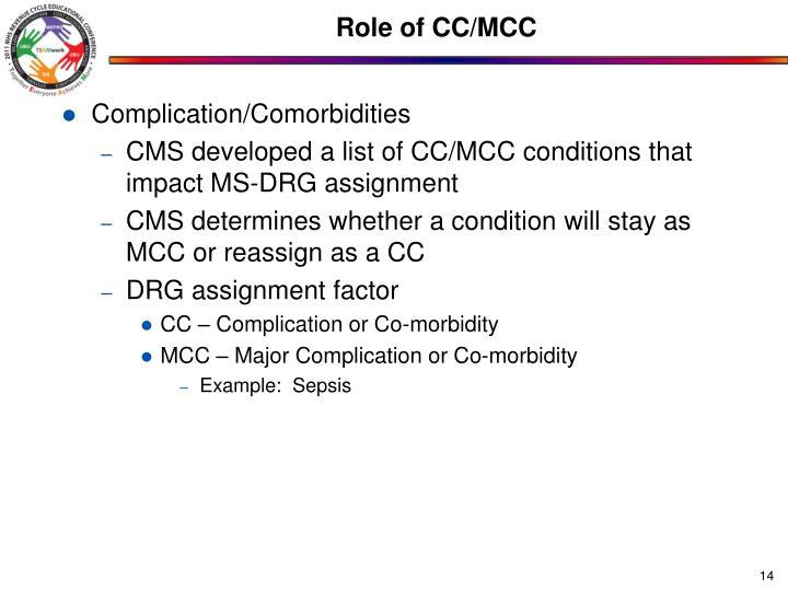 Role of CC/MCC