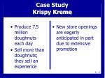 case study krispy kreme