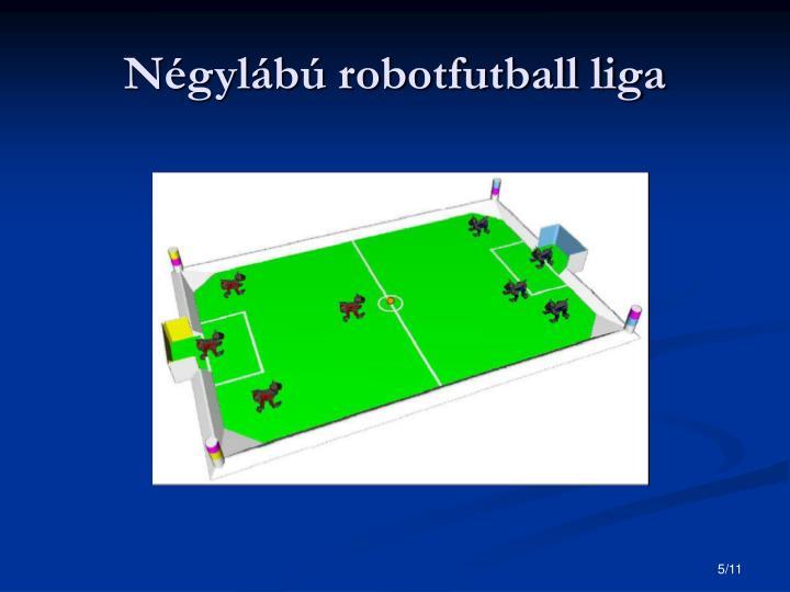 Négylábú robotfutball liga
