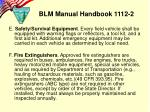 blm manual handbook 1112 29