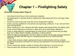 chapter 1 firefighting safety