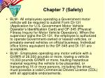 chapter 7 safety2