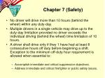 chapter 7 safety7