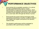 performance objectives1
