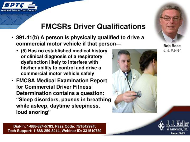 FMCSRs Driver Qualifications