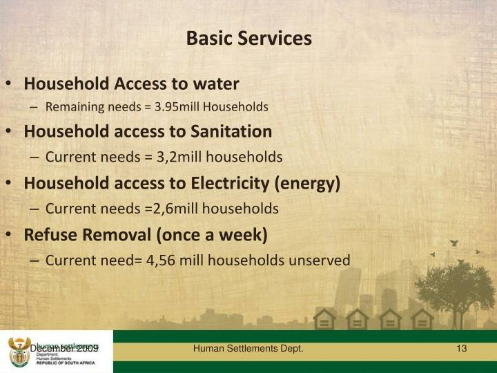 Basic Services