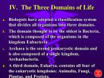 iv the three domains of life