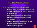 vii the domain archaea