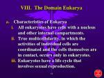 viii the domain eukarya