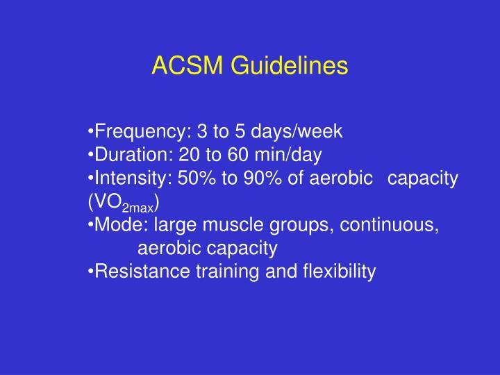 ACSM Guidelines