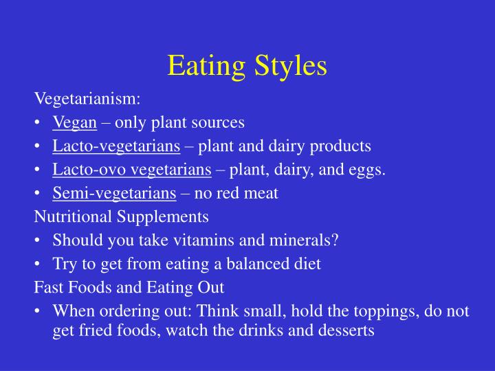 Eating Styles