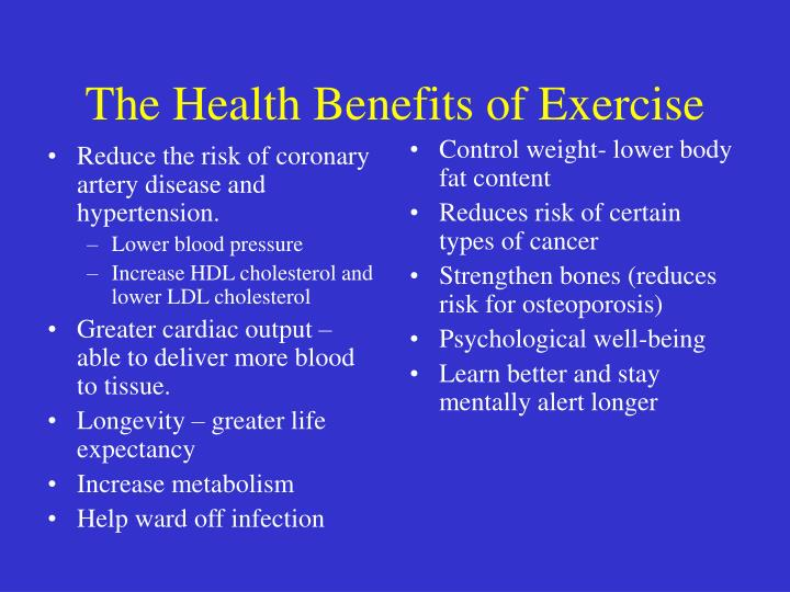 Reduce the risk of coronary artery disease and hypertension.