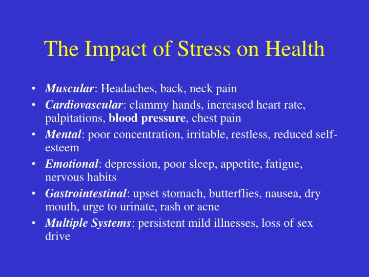 The Impact of Stress on Health