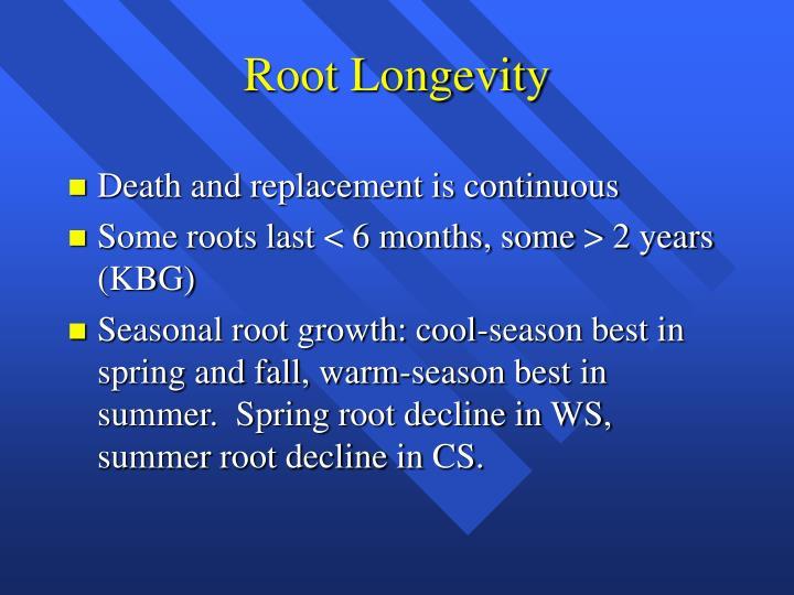 Root Longevity