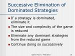 successive elimination of dominated strategies