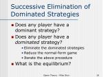 successive elimination of dominated strategies1