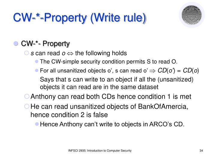 CW-*-Property (Write rule)