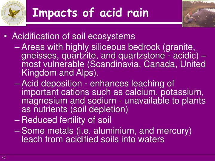 Acidification of soil ecosystems