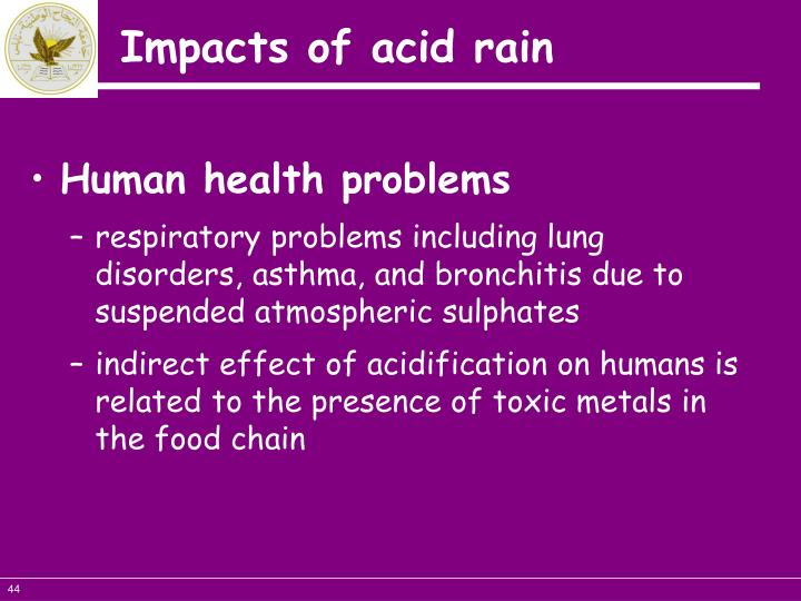 Human health problems