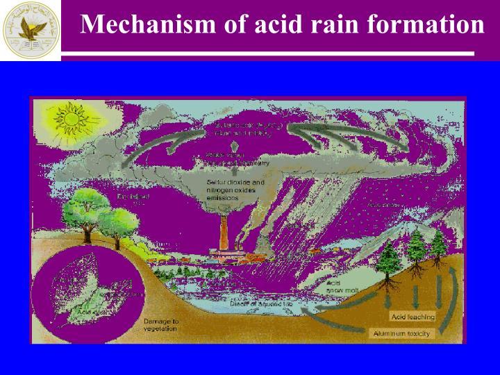 Mechanism of acid rain formation