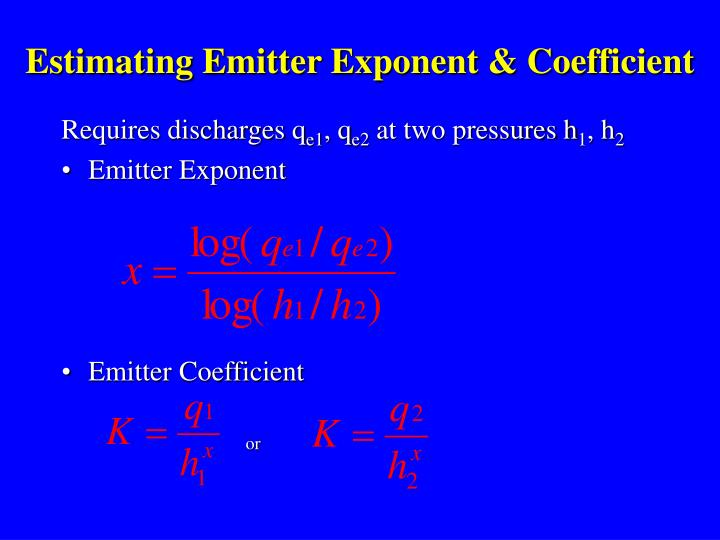 Estimating Emitter Exponent & Coefficient
