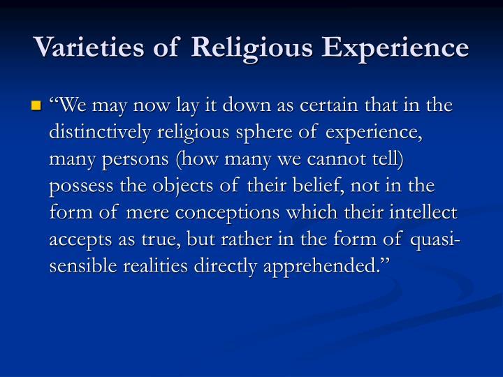Varieties of Religious Experience