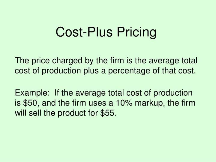 Cost-Plus Pricing