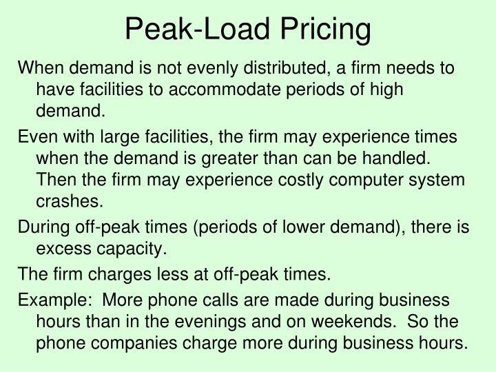Peak-Load Pricing