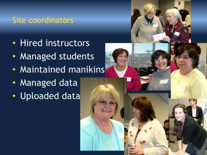Site coordinators