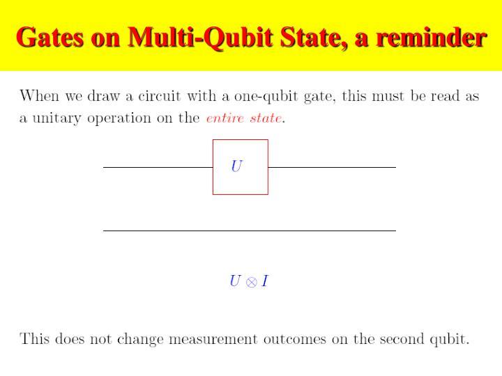 Gates on multi qubit state a reminder