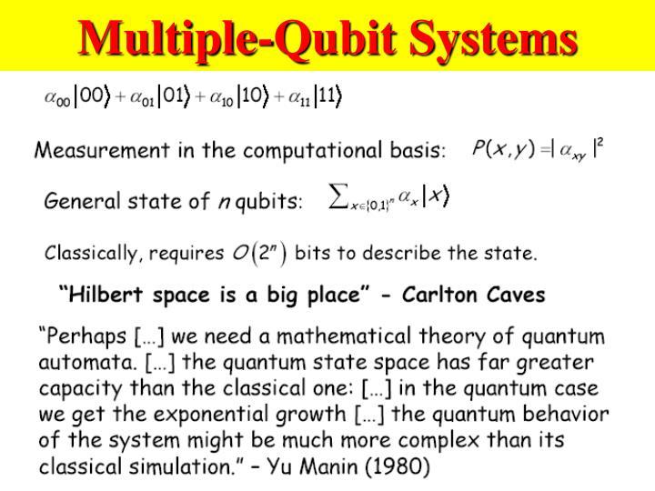 Multiple-Qubit Systems