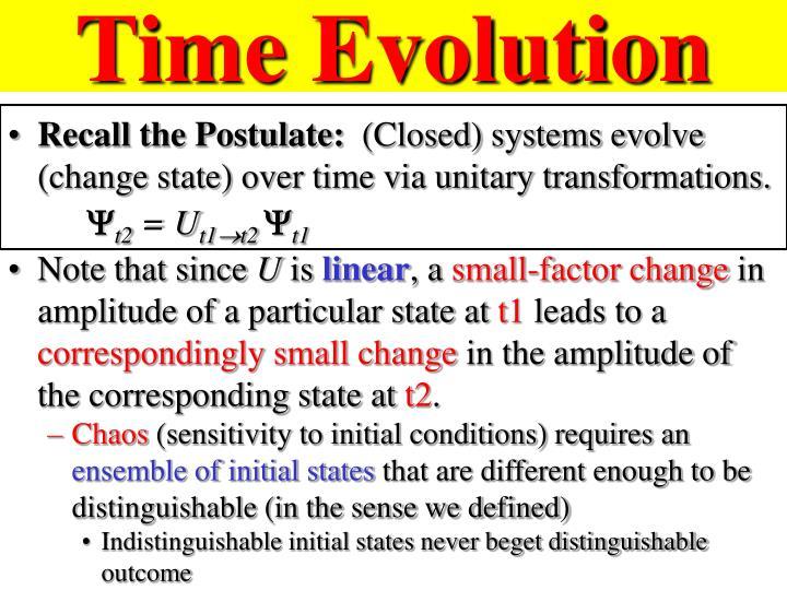 Time Evolution