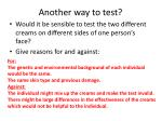 another way to test
