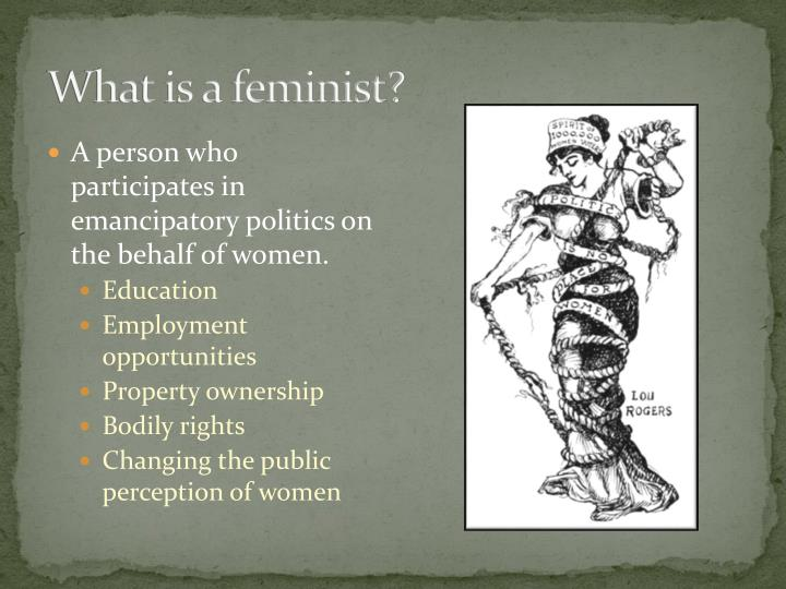 What is a feminist