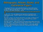 bibliography articles books and conference papers
