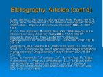 bibliography articles cont d