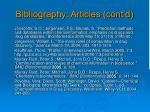 bibliography articles cont d1