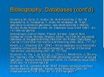 bibliography databases cont d