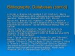 bibliography databases cont d1