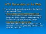 inchi generation on the web