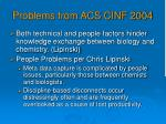 problems from acs cinf 2004