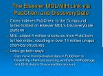 the elsevier mdl nih link via pubchem and discoverygate