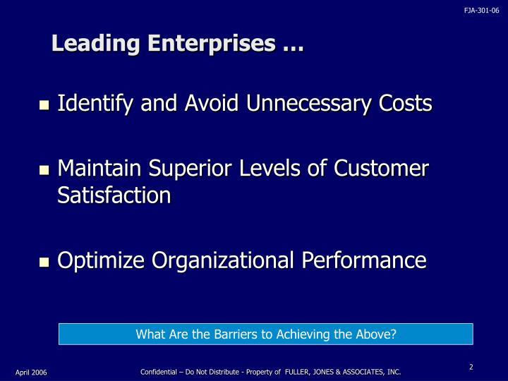 Leading enterprises