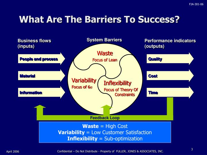 What are the barriers to success